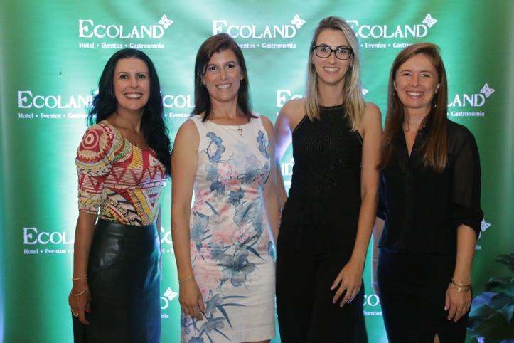 Simoni Fleck, Juliana Duarte, Vanessa Möller e Karlene Tatiana Kolling