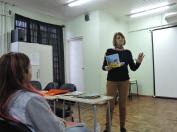 Sarau - Semana do Livro e da Leitura - Professora Juliana Strecker no Instituto Olívia
