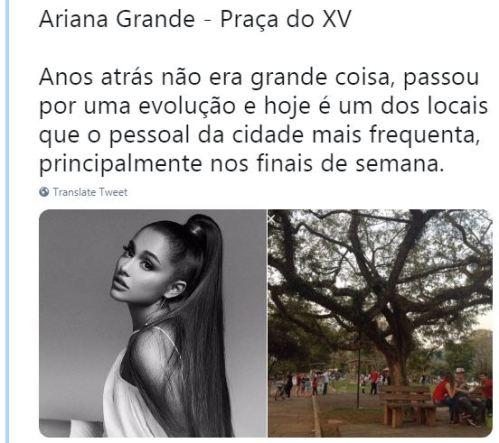 Ariana Grande - Praça do XV