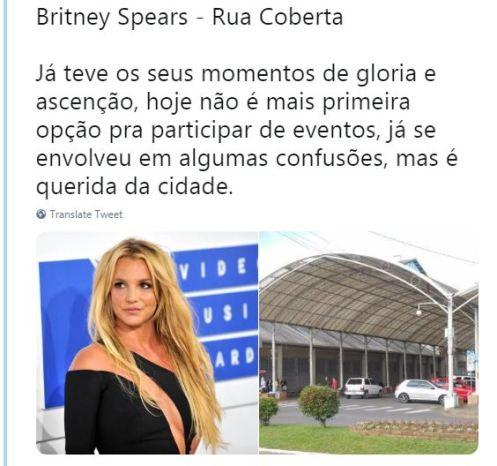 Britney Spears - Rua Coberta