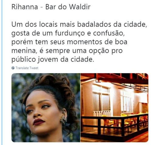 Rihanna - Bar do Waldir