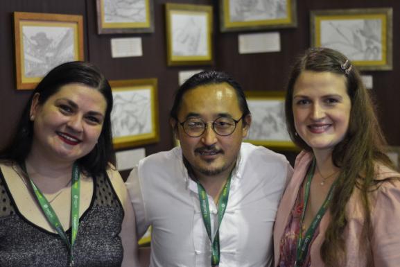 Lançamento Memorial - Ogyen Shak com as ilustradoras Martina e Milena Viegas