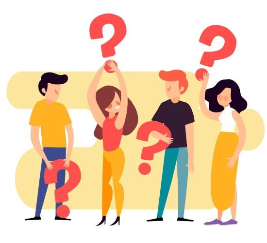 interrogação pessoas - fonte Freepik